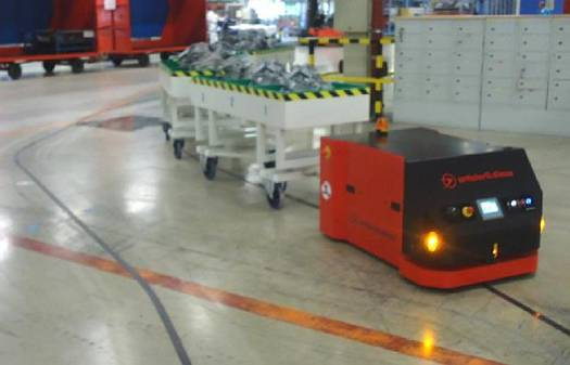 automated-guided-vehicle built with magnetic guide sensor